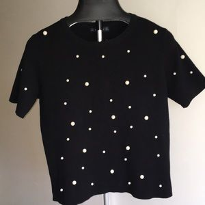 Short sleeve sweater